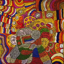 Maisie Campbell Napaltjarri Women's Ceremony Australian Aboriginal Art Painting on canvas MC1753