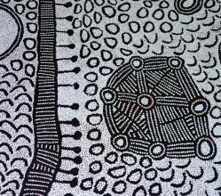 Aboriginal Art Painting on canvas by Yinarupa Gibson Nangala (Nungala) Ngaminya YN1748