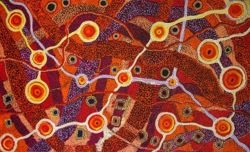 Patricia Baker Tunkin Minma Marlilu Tjukurrpa Australian Aboriginal Art Painting on canvas PT1744