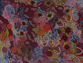 Gabriella Possum Nungurrayi My Grandmother's Country Australian Aboriginal Art Painting on canvas GP1891
