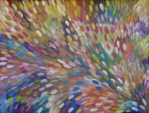 Gloria Petyarre Bush Medicine Leaves Australian Aboriginal Art Painting on canvas GP1888
