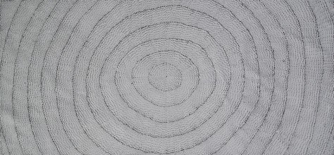 Lily Kelly Napangardi Rock Holes Australian Aboriginal Art Painting on canvas LK1900