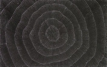 Lily Kelly Napangardi Rock Holes Australian Aboriginal Art Painting on canvas LK1907