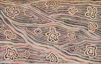Margaret Lewis Napangardi Tali Sand Hills Australian Aboriginal Art Painting on canvas ML1878