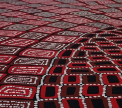 Thomas and Walala Tjapaltjarri Tingari Cycle Australian Aboriginal Art Painting on canvas WT1927-4