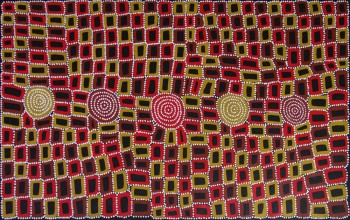 Walala Tjapaltjarri Tingari Cycle Australian Aboriginal Art Painting on canvas WT1925