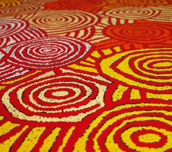 Aboriginal Art Painting on canvas by Debra Young Nakamarra Rock Holes DY1686