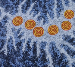 Gabriella Possum Nungurrayi Seven Sisters Dreaming Australian Aboriginal Art Painting on canvas GP1964-3