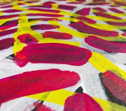 Aboriginal Artwork on canvas by Jeannie Petyarre Bush Yam Flowers JP1667
