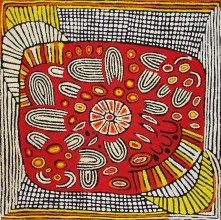 Narpula Scobie Napurrula Women's Ceremony Australian Aboriginal Art Painting on canvas NS1682